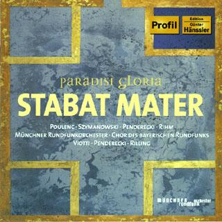 anthologie Stabat Mater   Penderecki – Poulenc – Rihm – Szymanowsk