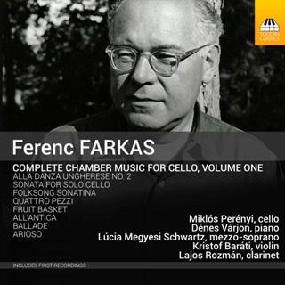 Miklós Perényi dans huit pièces avec violoncelle de Ferenc Farkas