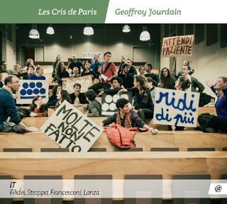 Les Cris de Paris chantent les Italiens Filidei, Francesconi, Lanza et Stroppa