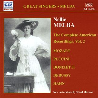 récital Nellie Melba | enregistrements américains (vol.2) 1909-1910