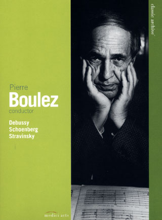 images d'archives de Pierre Boulez en concert (1966 / 1997)