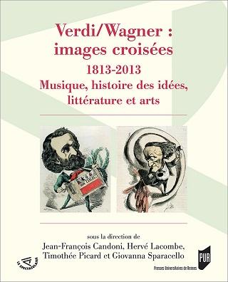 images croisées de Verdi et Wagner, lors d'un bicentenaire de naissance