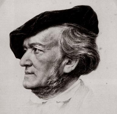 étude de portrait de Richard Wagner par Franz von Lenbach