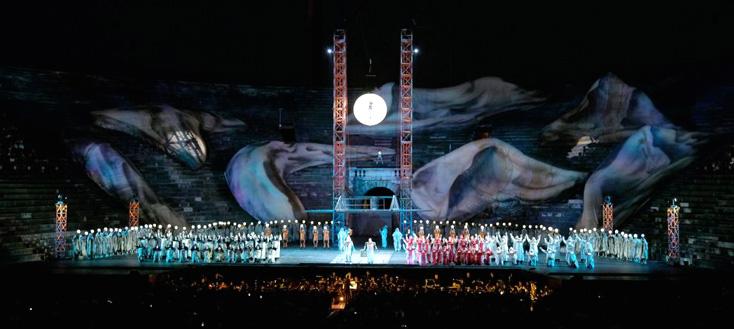 L'étrange Aida (Verdi) de La Fura dels Baus aux Arènes de Vérone