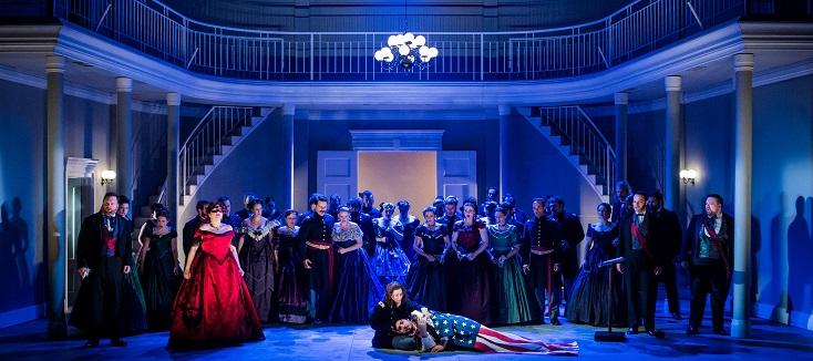 """au nouveau théâtre de Grange Park Opera, """"Un ballo in maschera"""" de Verdi"""