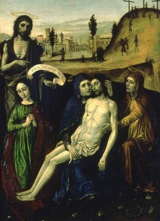 Ambrogio da Fossano (Il Bergognone) : Déploration du christ