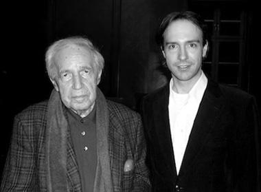 le compositeur Johannes Boris Borowski en compagnie de Pierre Boulez