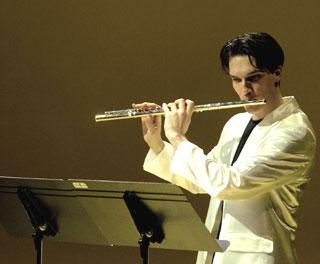 le flûtiste italien Mario Caroli au festival Musica de Strasbourg (2005)