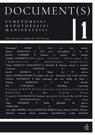 """N°1 de """"Document(s)"""", revue de mise en abyme des arts sonores"""