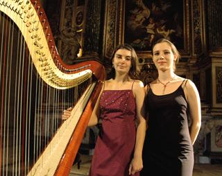 aux Journées de la harpe (Arles) : Delphine Constantin et Constance Luzzati