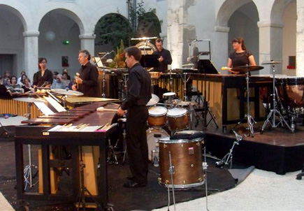 l'ensemble Percussions-Claviers de Lyon se produit à Cordes en ballade