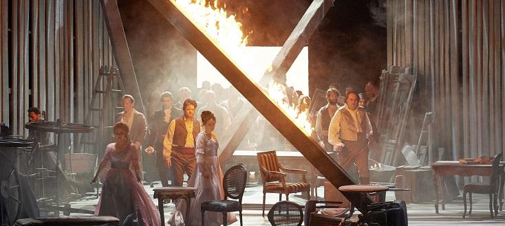 à l'Opéra de Vienne, La mort de Danton de Gottfried von Einem