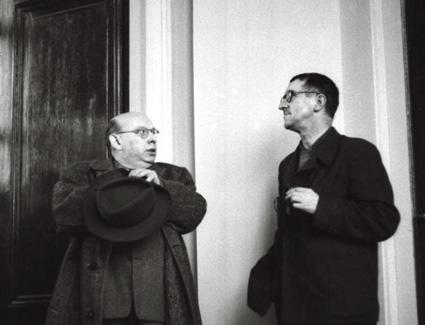 le compositeur Hanns Eisler et le dramaturge Bertolt Brecht à Berlin en 1959
