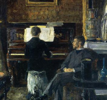James Ensor peint le Concert russe [Bruxelles, Musée des Beaux-arts]