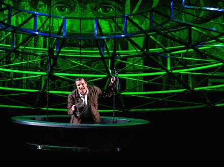 à l'Opéra de Budapest, Der Freischütz (Weber) mis en scène par Sándor Zsótér