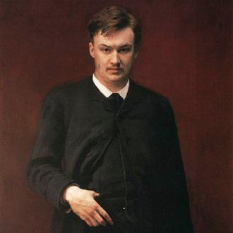 portrait d'Alexandre Glazounov (Глазунов) par Ilia Répine (Ре́пин), 1887