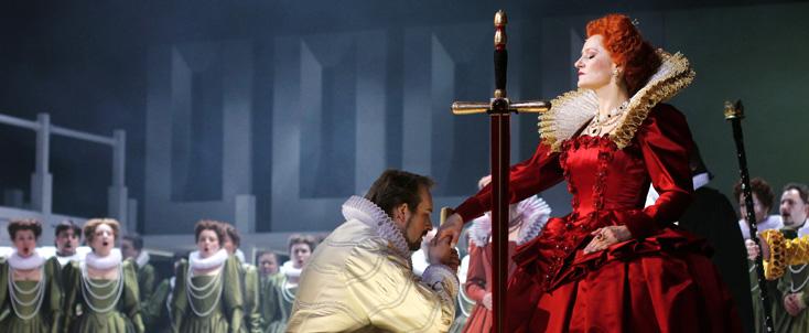 Gloriana de Benjamin Britten, mis en scène par Jiří Heřman à Prague