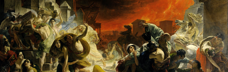 последний день помпеи, toile monumentale de Karl Brioullov (1833)