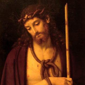 conservé au musée de Leipzig, le Christ aux épines d'Andrea Solario (1503)