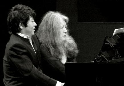 les pianiste Lang Lang et Martha Argerich au Verbier Festival and Academy 2007