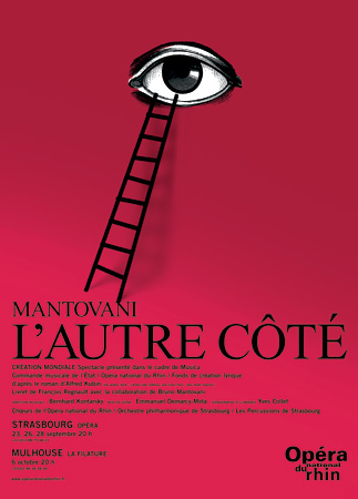Affiche de la création de L'Autre côté, opéra de Bruno Mantovani