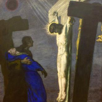 en 1913, Franz von Stuck peint une immense Crucifixion, conservée à Leipzig