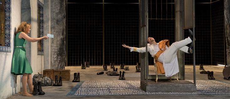 à Schwetzingen, David DQ Lee est Mitridate dans l'opéra éponyme de Porpora