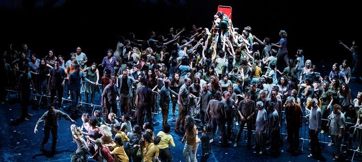 Quentin Hindley joue Le monstre du labyrinthe (2015), opéra de Dove