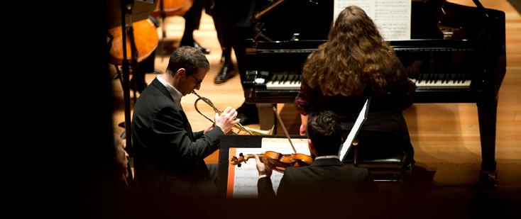Plamena Mangova et Cédric Dreger dans le concerto de Chostakovitch à Lille