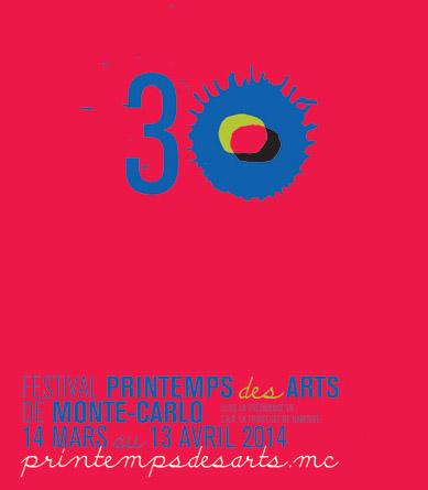 l'affiche 2014 du Printemps des arts de Monte-Carlo