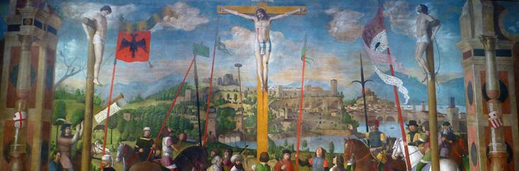 Crucifixion par Da Verona (1500), photographiée par Bertrand Bolognesi (2015)