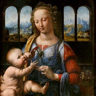 Leonardo da Vinci : Madonna del garofano © Bertrand Bolognesi
