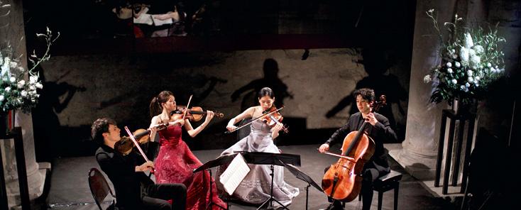 le jeune et talentueux Quatuor, photographié par Jean-Claude Capt