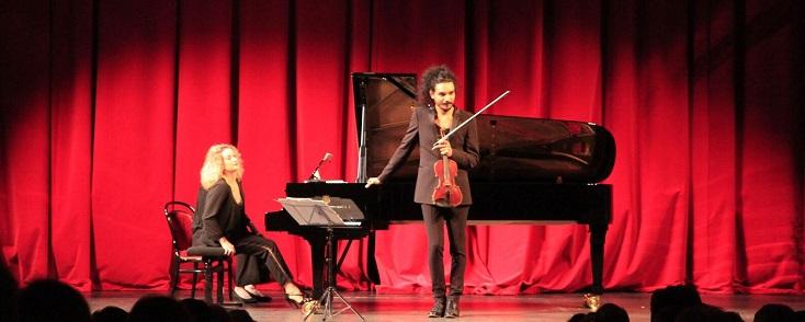 récital Nemanja Radulović et Laure Favre-Kahn aux Nuits romantiques du Bourget