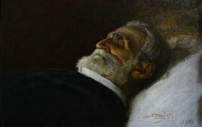 En 1901, Giuseppe Verdi peint sur son lit de mort par Carlo Stragliati