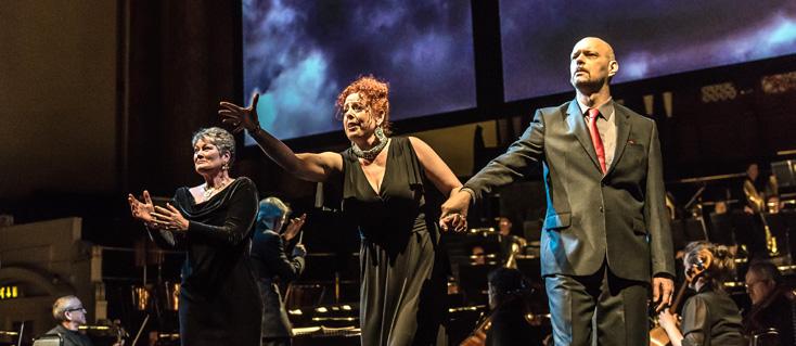 mise en espace de Rheingold pour Opera North au Royal Festival Hall, Londres