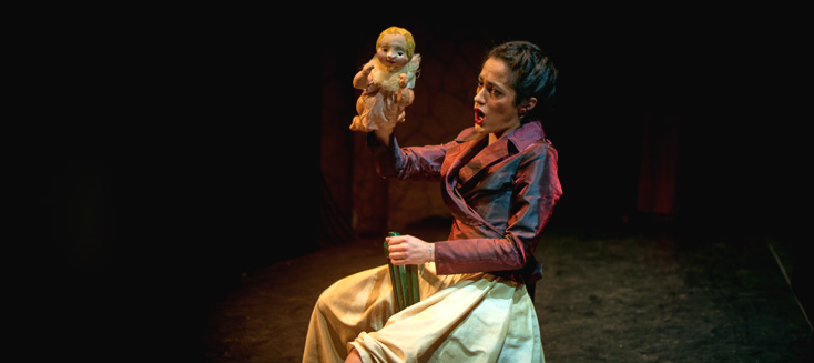 les marionnettes de la Cie Émilie Valentin jouent La serva padrona de Pergolesi