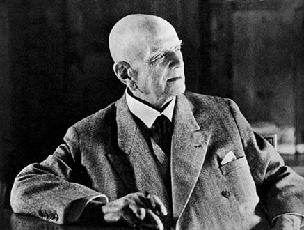 le compositeur finlandais jean Sibelius (1865-1957)