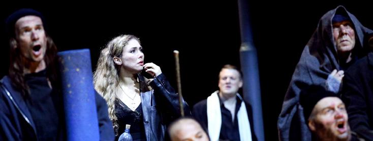 Annette Dasch est Elisabeth du Tannhäuser (Wagner) de Vera Nemirova à Francfort
