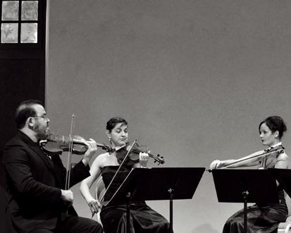 le Quatuor Terpsycordes photographié à Ambronay par Bertrand Pichene