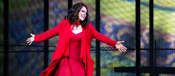 Kristine Opolais, superbe Tosca à Baden Baden, mise en scène Himmelmann