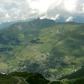 vue générale du villafe de Verbier (Suisse) par Bertrand Bolognesi