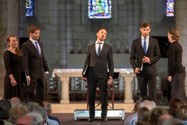 Les madrigalistes de l'ensemble Voces Suaves chantent Monteverdi