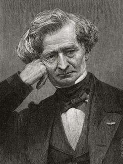 gravure représentant le compositeur français Hector Berlioz