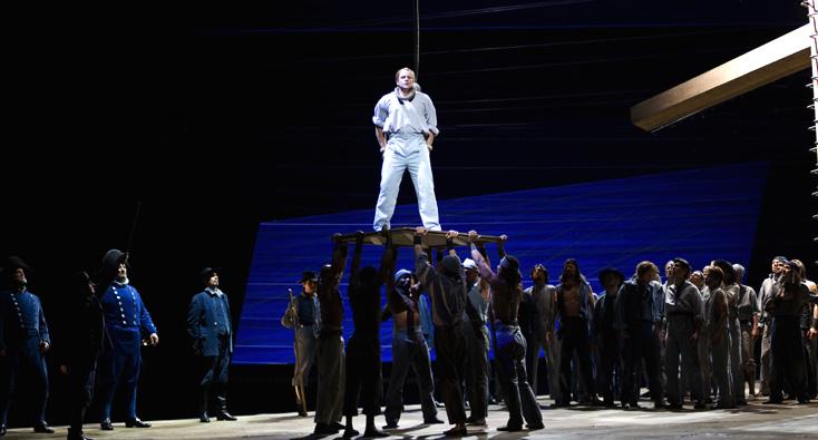 Lucas Meachem (baryton) dans Billy Budd (Britten) à l'Opéra Bastille