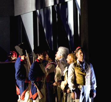 Vincent Presle photographie Andrea Chénier, l'opéra de Giordano, à Genève