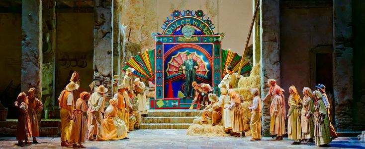 l'Opéra buffa de Donizetti à Nice, dans le décor de de Mauro Carosi