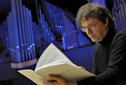 le compositeur français Thierry Escaich photographié par Sébastien Erome
