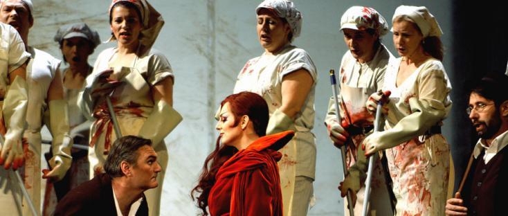 femmes en tabliers de boucher dans le Freischütz de Weber par Joosten