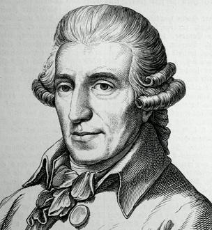 gravure représentant le compositeur Joseph Haydn